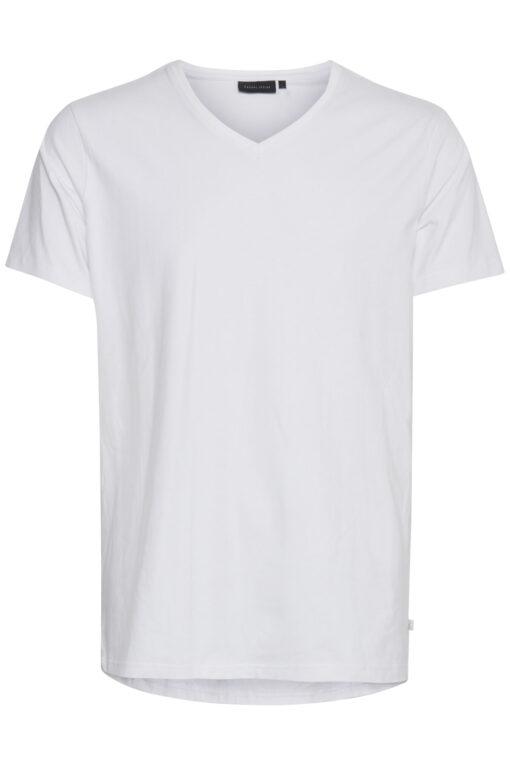 Hvid t-shirt med V-hals