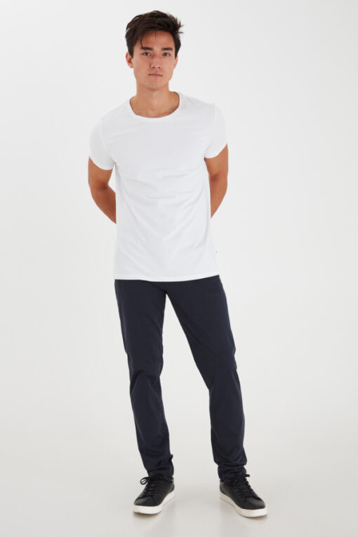 Navy bukser i slim fit - Casual Friday
