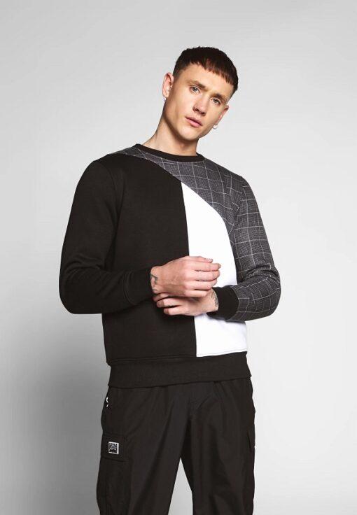 Sort sweatshirt til mænd