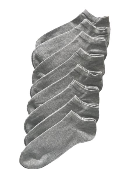Ankelsokker grå 8-Par