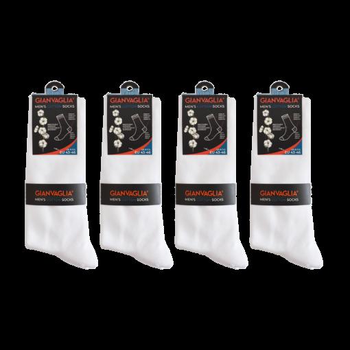 gianvaglia sk 202 heren katoenen sokken wit 1