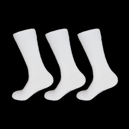 Hvide herrestrømper 12pak