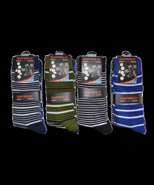 gianvaglia sk 206 heren katoenen sokken lines 1 1