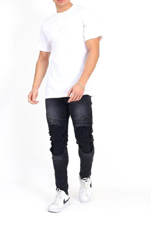 Sorte jeans i Skinny fit