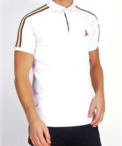Brave Soul Polo Shirt i hvid