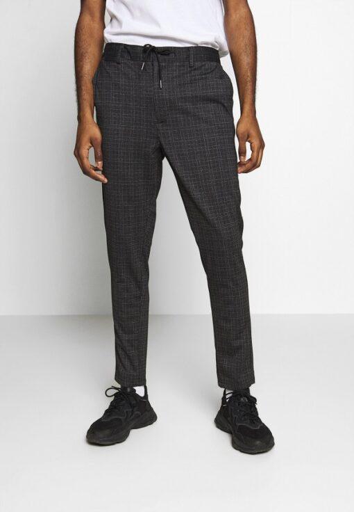 Mørkegrå bukser med tern
