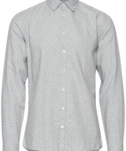 Lysegrå skjorte med prikker - Casual Friday