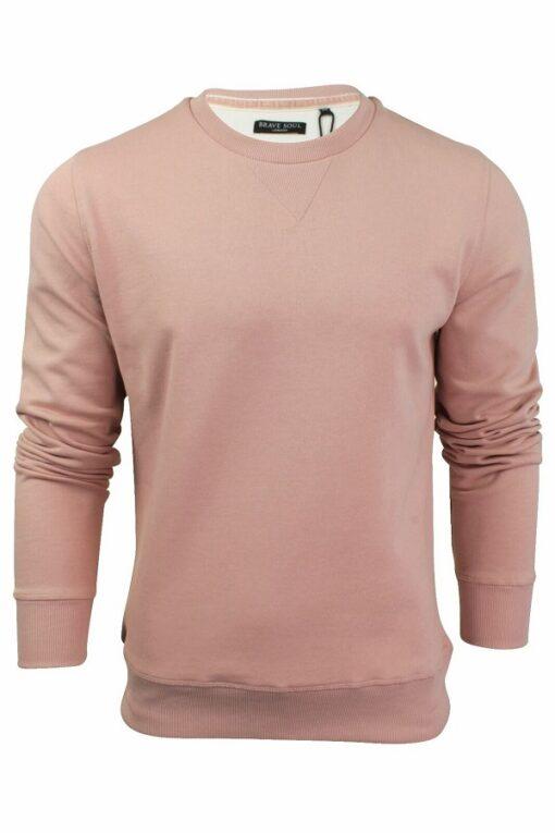 Pink cream sweatshirt til mænd i regular fit