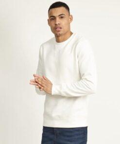 Hvid sweatshirt til mænd
