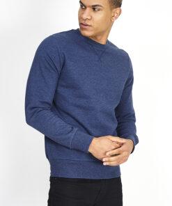 Blå sweatshirt til mænd i regular fit
