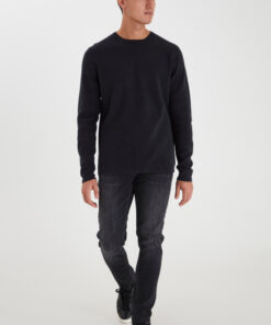 Sort striktrøje - slim fit - Casual Friday