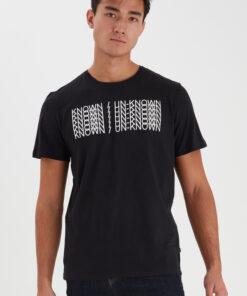 Sort t-shirt med tryk