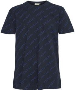 T-shirt med motiv - Navy - Casual Friday