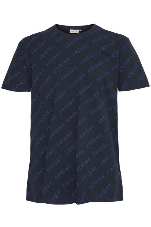 Navy t-shirt med motiv - Casual Friday