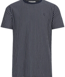 T-shirt med striber - Navy - Casual Friday