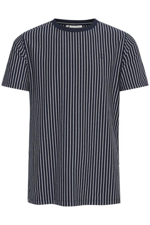 T-shirt med striber - Navy - Casual Friday