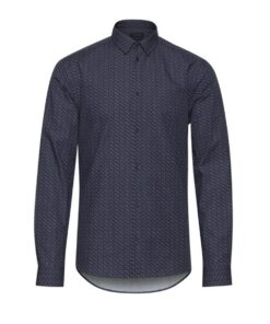 Navy skjorte med prikker – Slim fit – Casual Friday