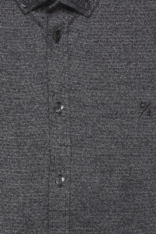 anthracite black langaermet skjorte 2