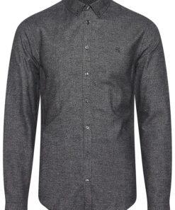 anthracite black langaermet skjorte
