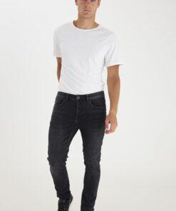 Basic herre T-shirt - Regular fit - Hvid/Sort