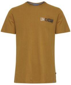T-shirt med tryk - Brun - Casual Friday