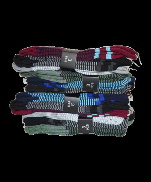 gianvaglia sk 205 heren katoenen sokken stripes 1