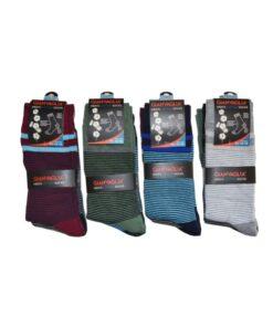 gianvaglia sk 205 heren katoenen sokken stripes