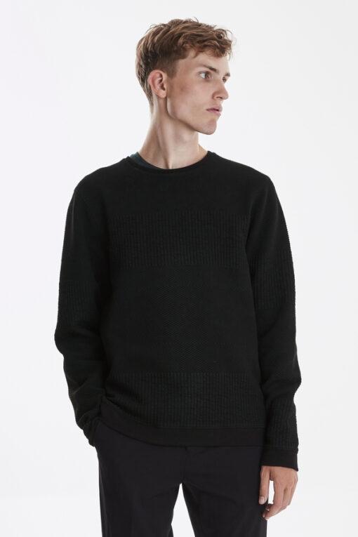 Sort sweatshirt til mænd i Regular fit