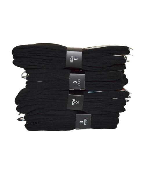 Sorte strømper 12 par