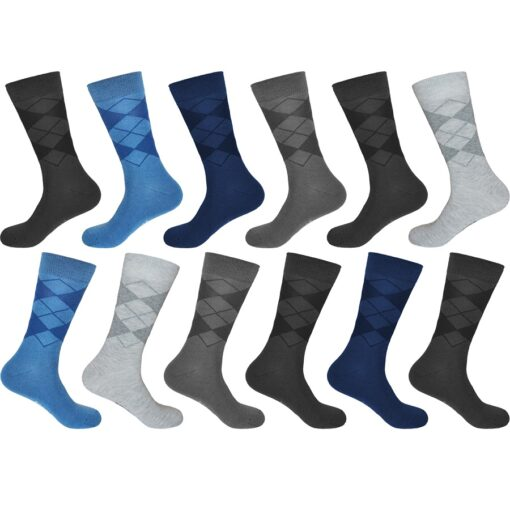 gianvaglia sk 207 mens cotton socks stripes argyle
