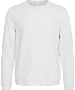 Lysegrå sweatshirt - Casual Friday