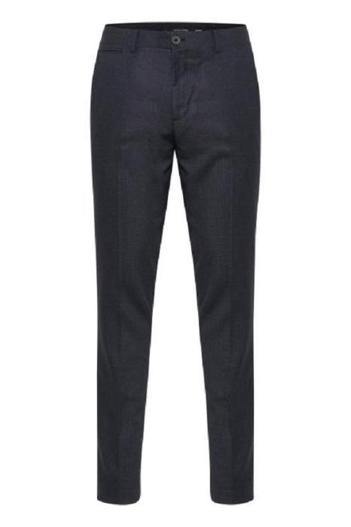 Mørkegrå bukser med tern i slim fit