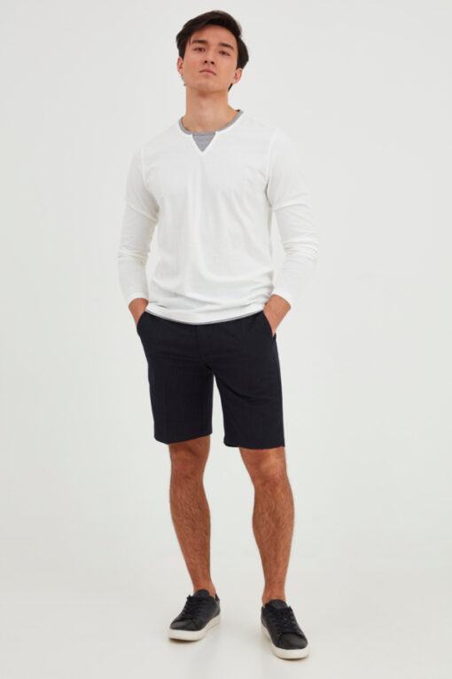 Navy shorts med hvide striber