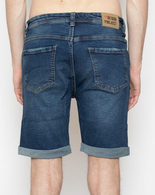 Blå denim shorts med slid