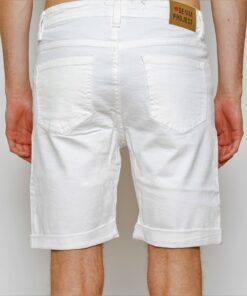 Hvide denim shorts