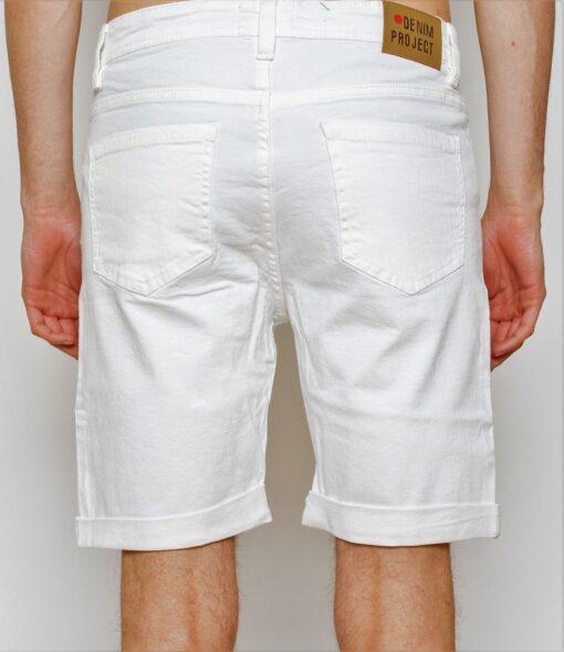 Hvide denim shorts
