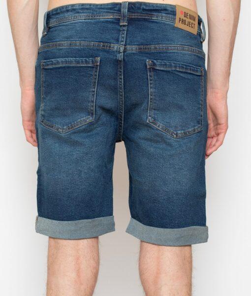 Blå denim shorts