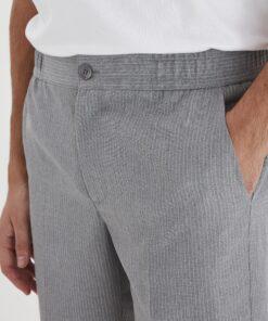 light grey melange shorts casual 1