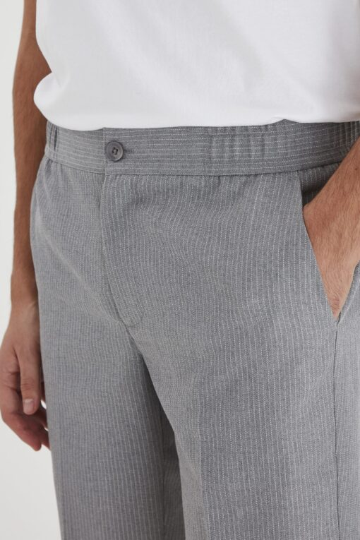 light grey melange shorts casual 1 scaled