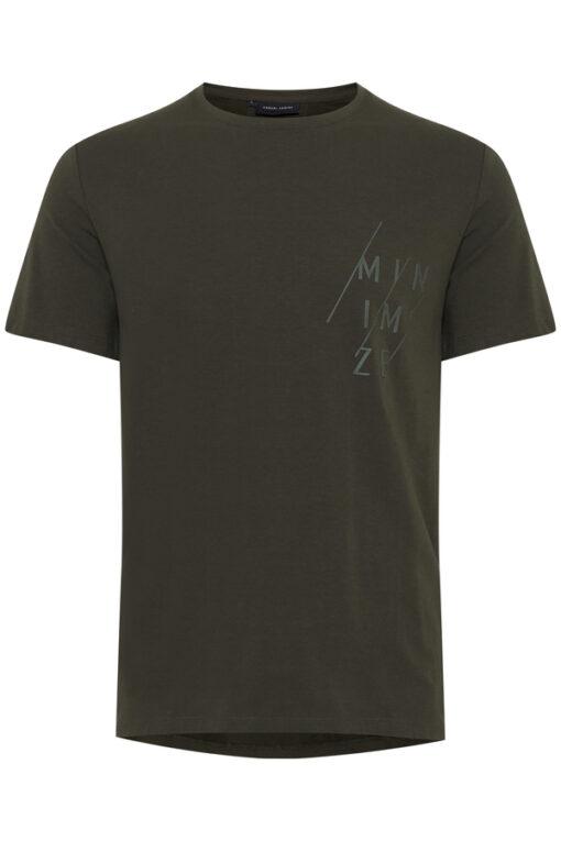 Moss grøn T-shirt med tryk - Casual Friday