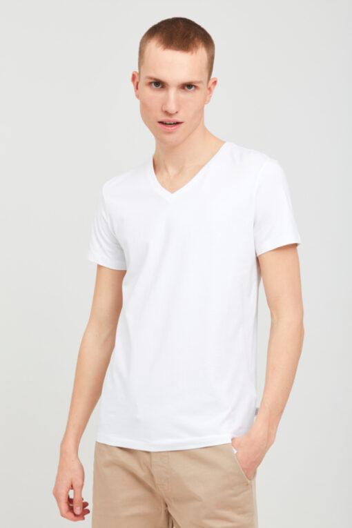 Hvid T-shirt med v-hals i Slim fit - Casual Friday