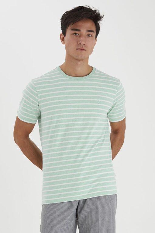 Mintgrøn T-shirt med striber - Casual Friday