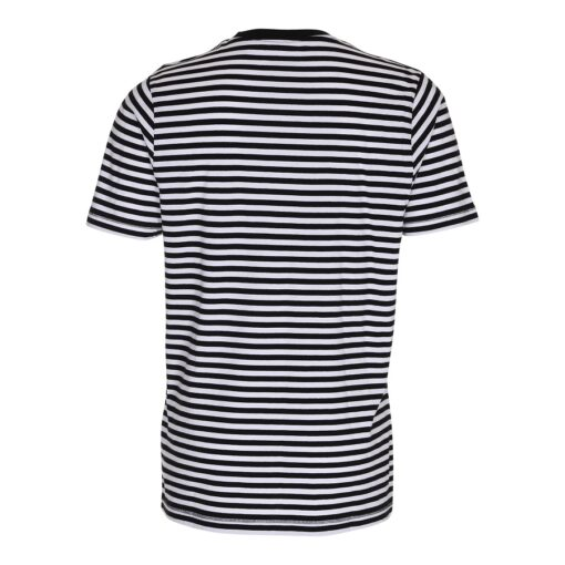 Stribet T-shirt - Sort/Hvid