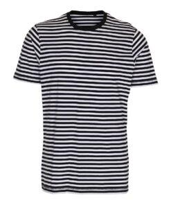 Sort/Hvid Stribet T-shirt