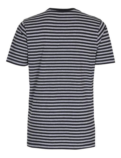 Stribet T-shirt - Sort/Grå