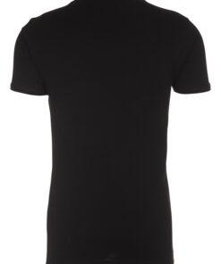 T-shirt med V-hals - Sort