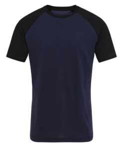 T-shirt til mænd i Navy/Sort