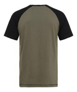 T-shirt til mænd i Army/Sort