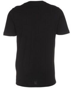 Sort t-shirt med v-hals til mænd