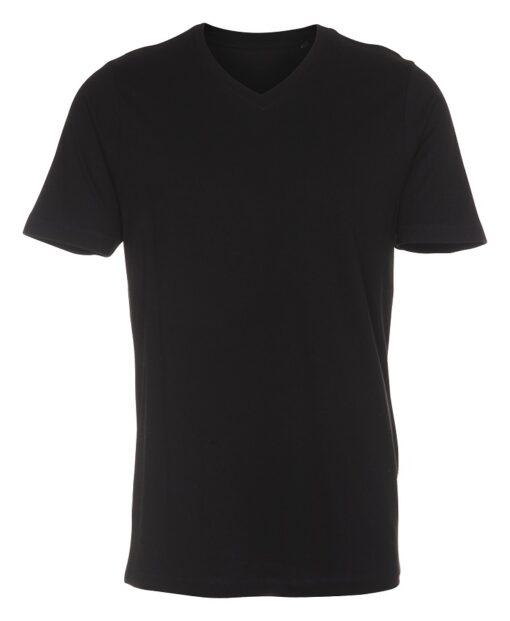 sort Basic T-shirt med v-hals til mænd